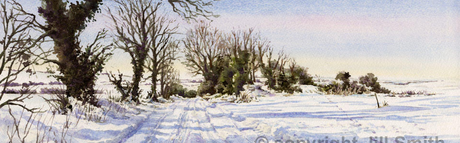Ridgeway Under Snow SOLD