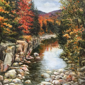 'Fall, New England' oil painting