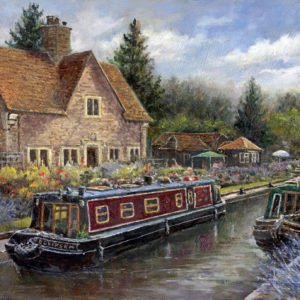 'Iffley Lock' oil painting