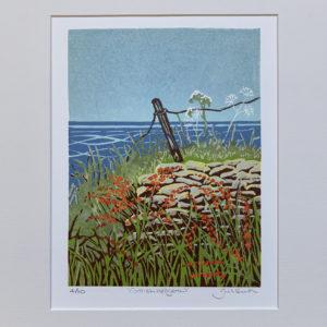 Cornish Hedgerow linocut