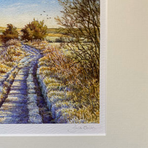 Frost on the Ridgeway (Giclée Print) 16×12 inch when framed