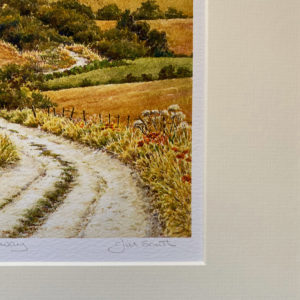 Hedgerow Poppies on the Ridgeway (Giclée Print)