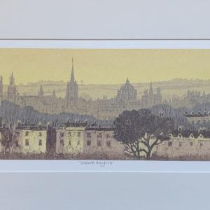 Oxford Skyline linocut