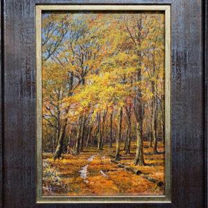 'Autumn Colour, Badbury Clump' oil painting