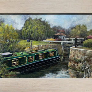 'Buscot Lock' oil painting