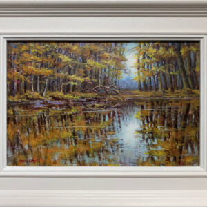 'Autumn Reflections' oil painting