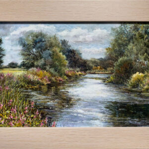 'Round the Bend at Buscot' oil painting