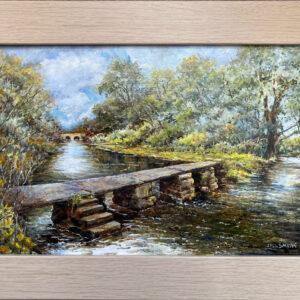 'Clapper Bridge, Eastleach' oil painting