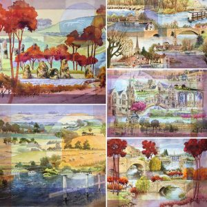 Local Landscape Montage Selection card pack