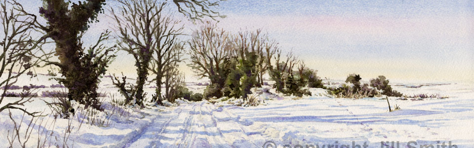 Ridgeway Under Snow SOLD