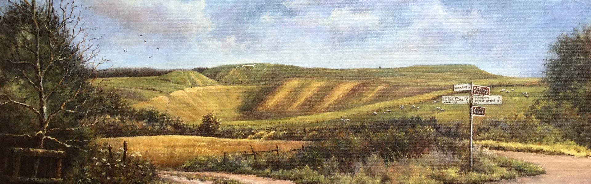 View to White Horse Hill Uffington SOLD