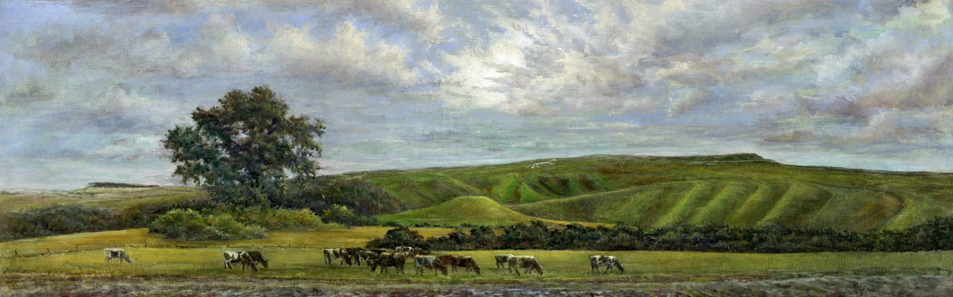 White Horse Hill from the Vale SOLD