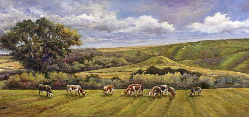 White Horse Hill, Uffington 50x20cm £180 framed