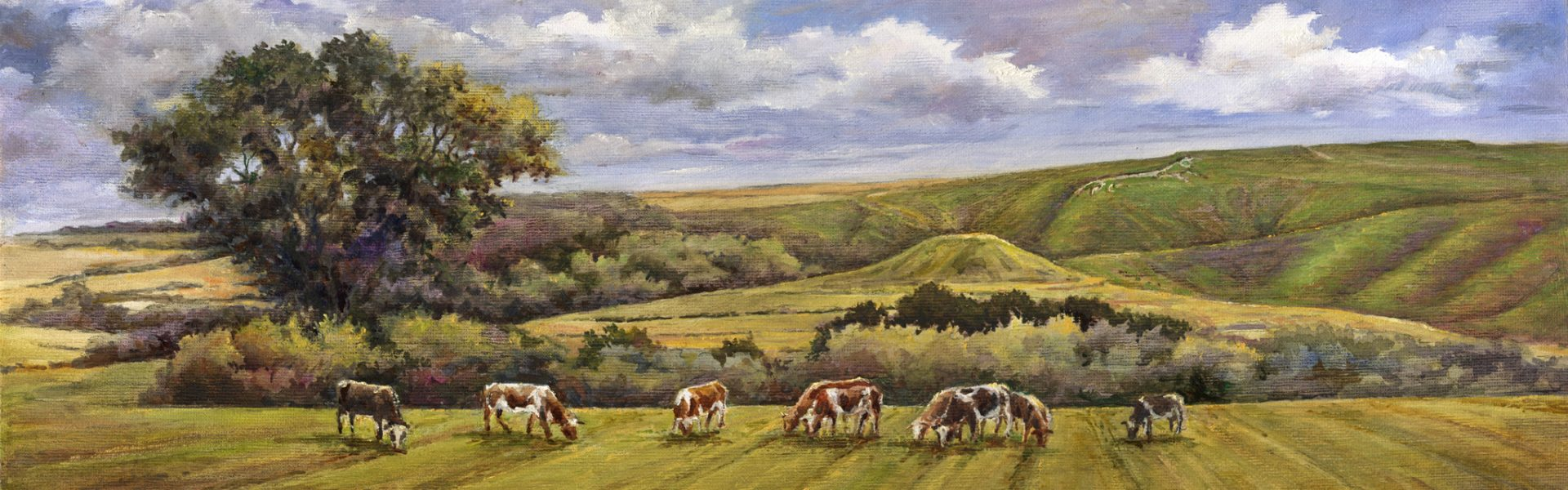 White Horse Hill, Uffington 50x20cm £180 framed