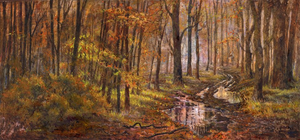 Woodland Puddles  £180 framed